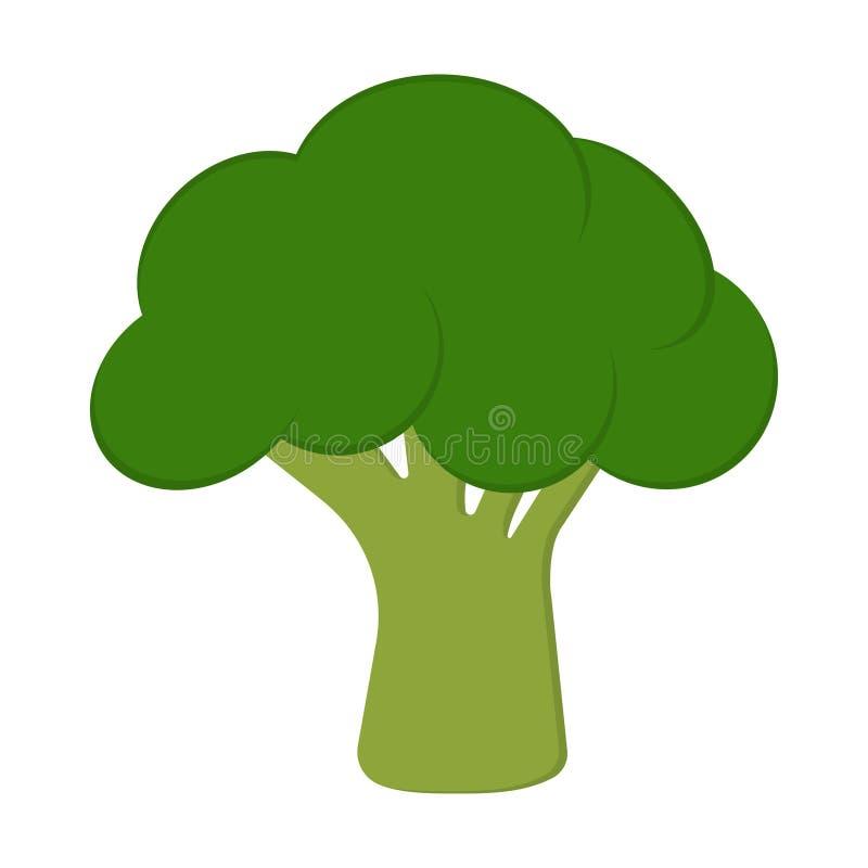 Kort med broccoli vektor illustrationer