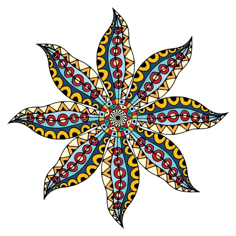 Kort med mandalaen royaltyfri illustrationer