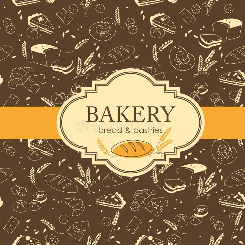 Kort med olikt snällt bröd vektor illustrationer