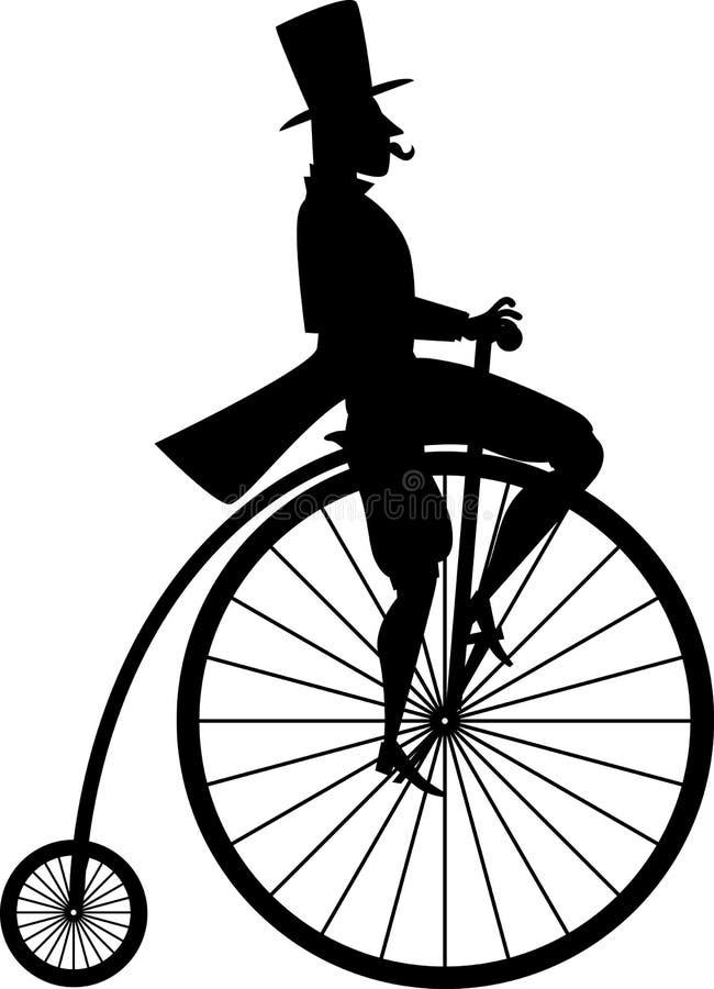 Kort och modell med cykeln stock illustrationer