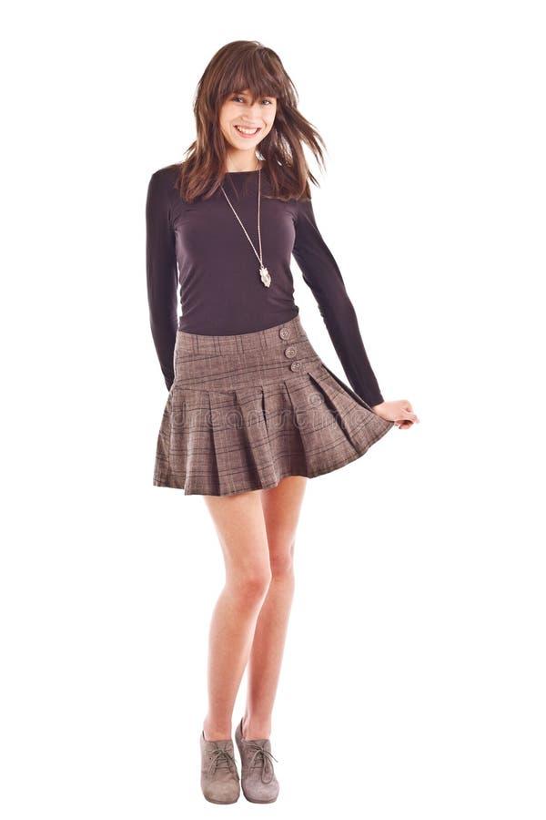 kort skirt för flicka royaltyfri bild