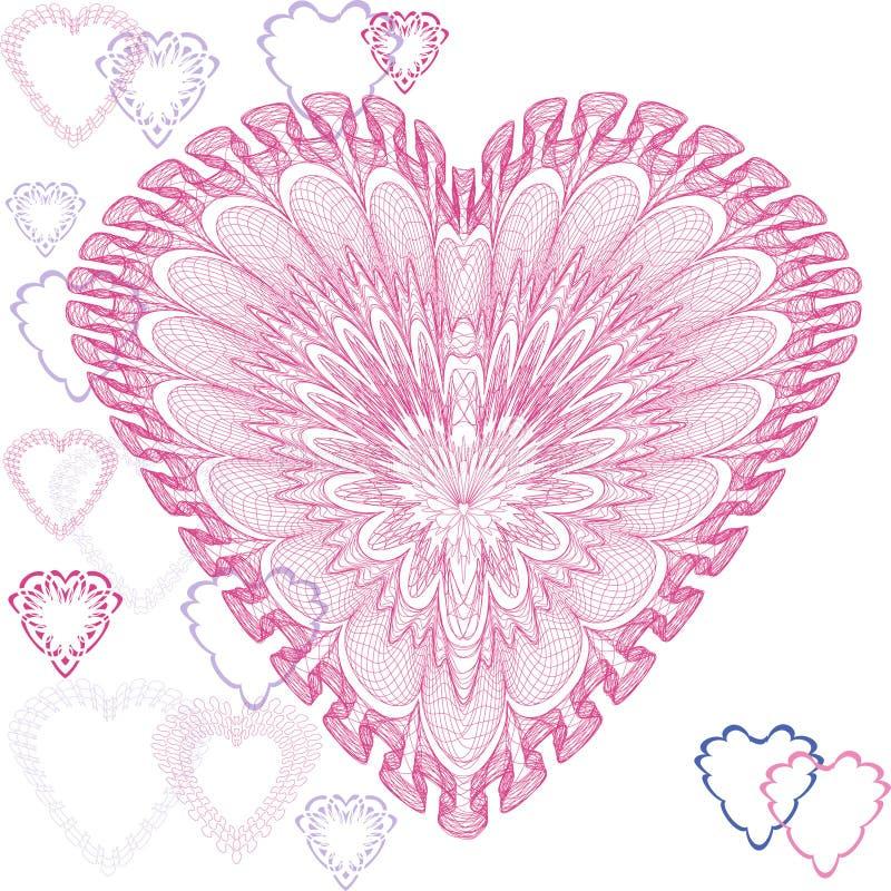 kort som greeting hjärtaform royaltyfri illustrationer