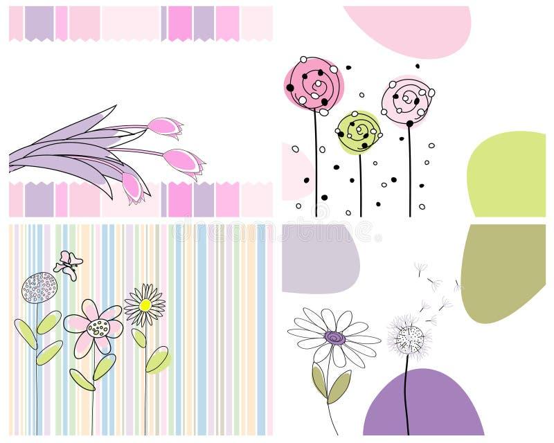 kort som greeting seten stock illustrationer