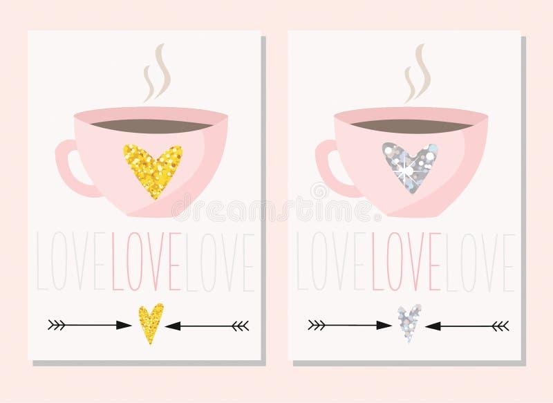 kort som greeting seten klar vektor för nedladdningillustrationbild stock illustrationer