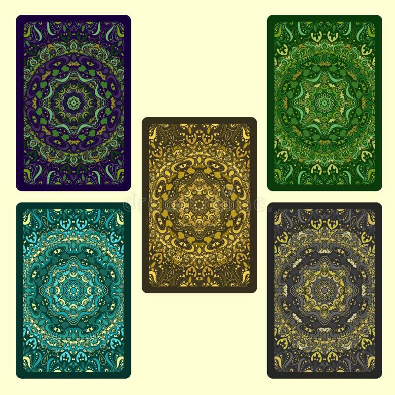 kort som leker seten stock illustrationer