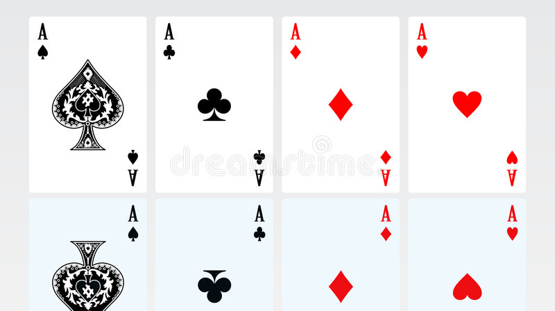 kort som leker seten royaltyfri illustrationer