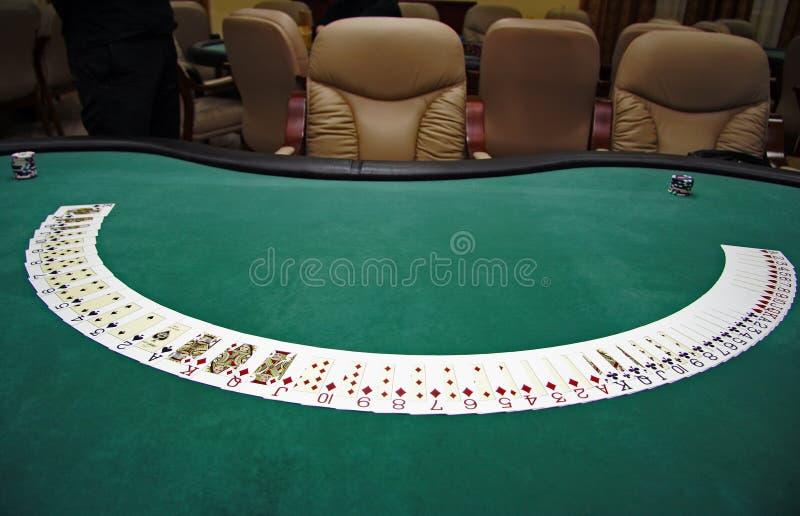 kort som leker tabellen royaltyfri foto