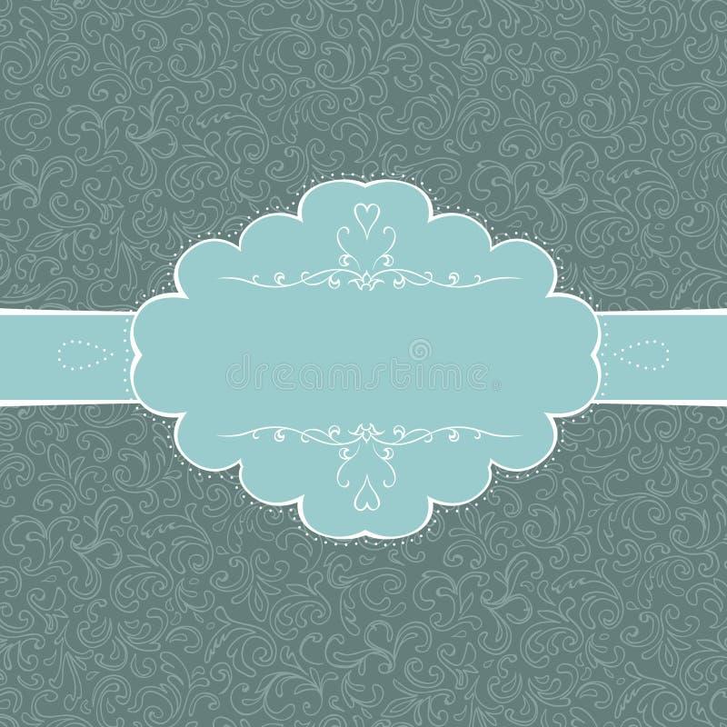 kort utformad tappning vektor illustrationer