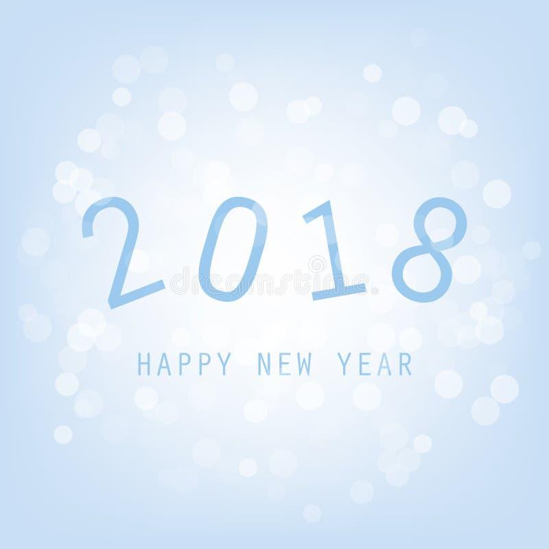Kortbakgrund för nytt år - 2018 stock illustrationer