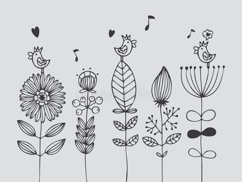 kortblomma royaltyfri illustrationer