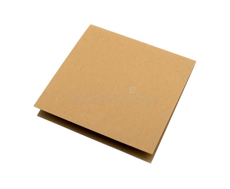 Kortbräde för brunt papper royaltyfria foton