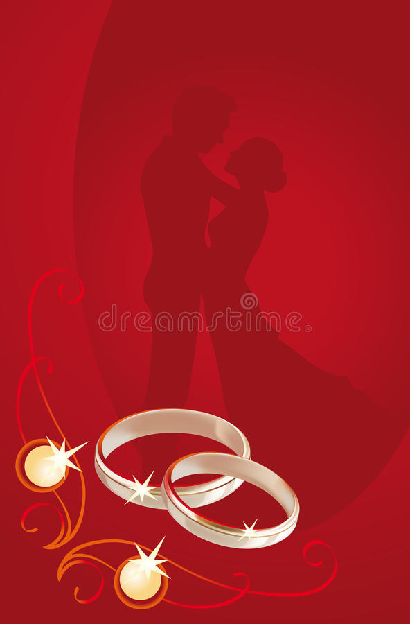 kortbröllop stock illustrationer