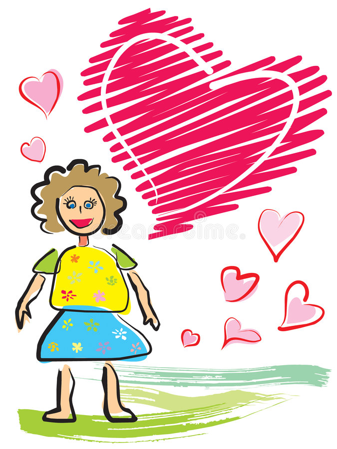 kortdagmamma stock illustrationer
