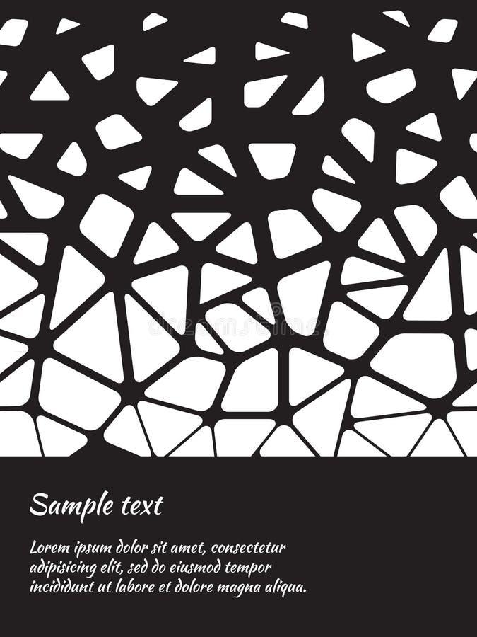 Kortdesign med den abstrakta svartvita modellen vektor illustrationer
