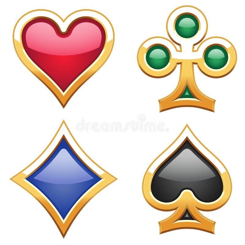 kortdräkter royaltyfri illustrationer