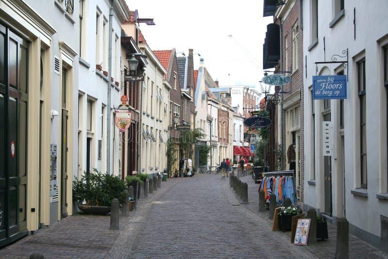 Korte Bisschopsstraat é uma rua da compra foto de stock royalty free