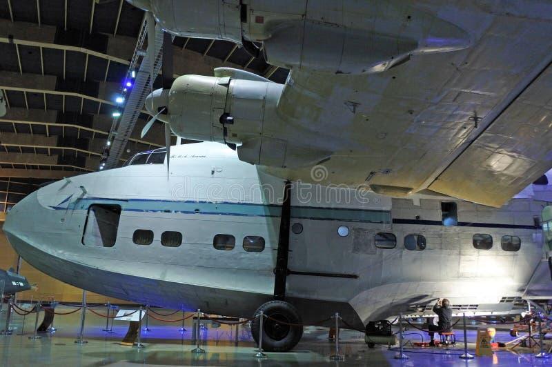 Korte het watervliegtuigen van Sunderland bij MOTAT 2 royalty-vrije stock foto's