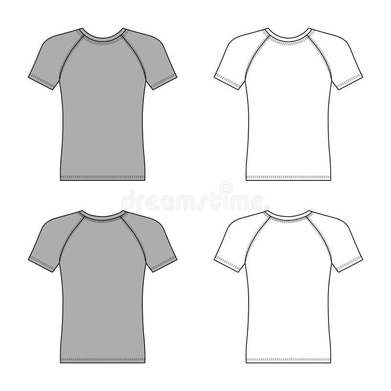 Korte kokerraglan t-shirt royalty-vrije illustratie
