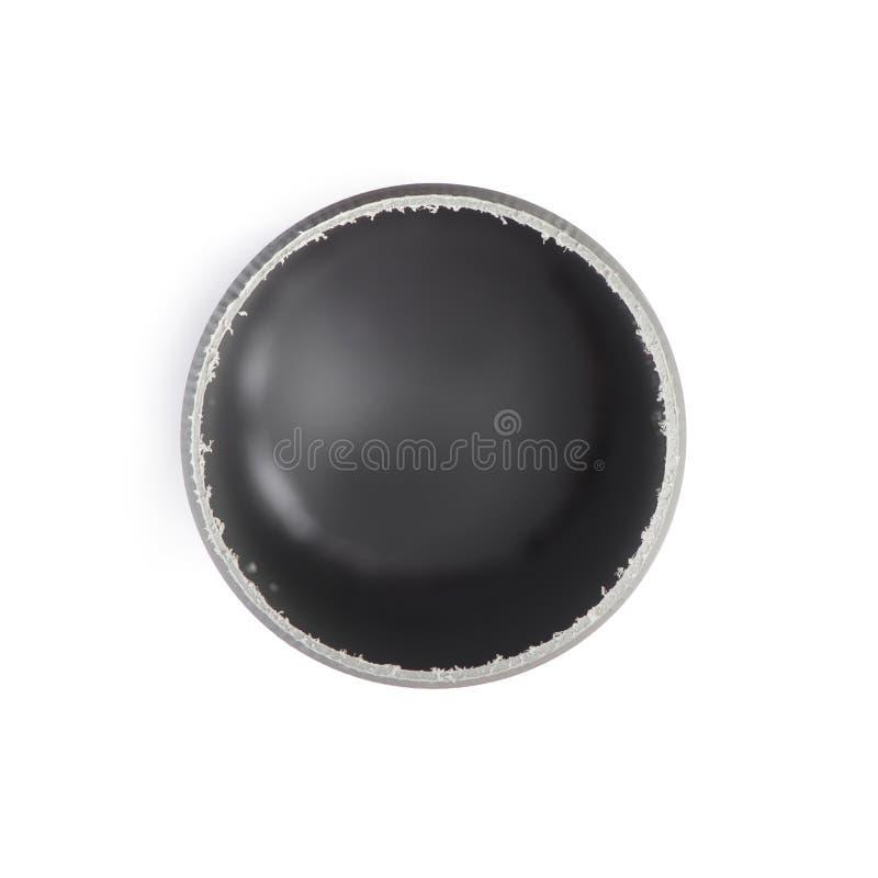 Korte plastic pijp stock afbeelding