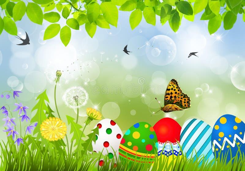 korteaster ägg som greeting vektor illustrationer