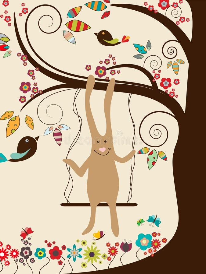 korteaster hälsning stock illustrationer