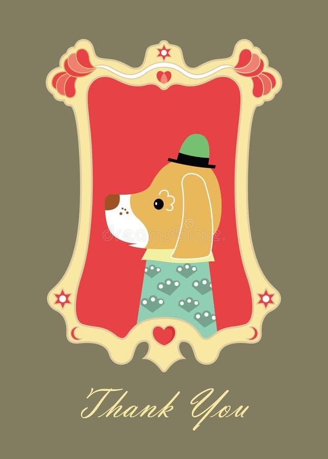 kortet tackar dig royaltyfri illustrationer