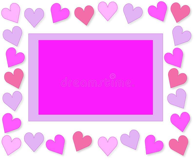 korthälsningshjärtor älskar valentinen stock illustrationer