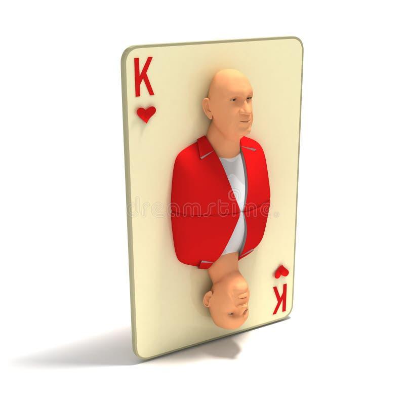 korthjärtor görar till kung att leka vektor illustrationer