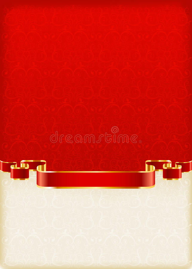 1 kortinbjudan vektor stock illustrationer