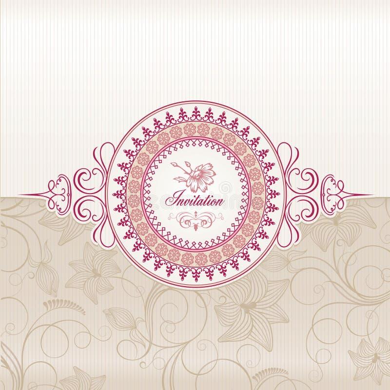 kortinbjudanbröllop stock illustrationer