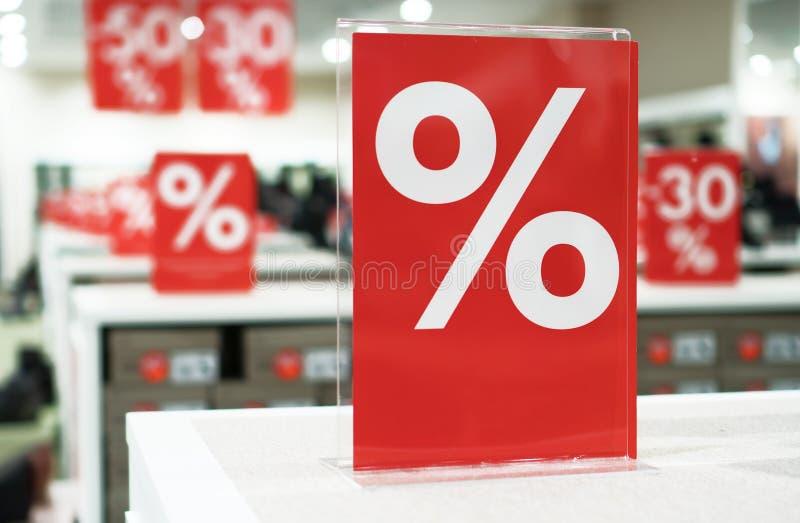 Kortingen in het winkelcentrum royalty-vrije stock fotografie