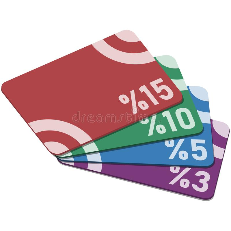 Kortings plastic kaarten royalty-vrije stock afbeelding