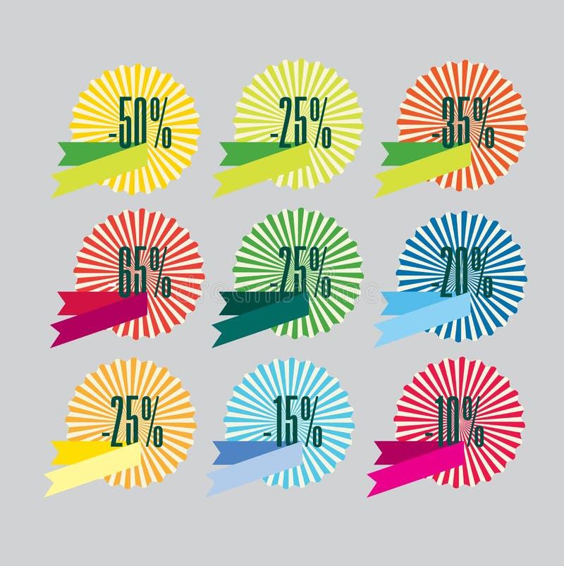 Kortingspictogrammen vector illustratie