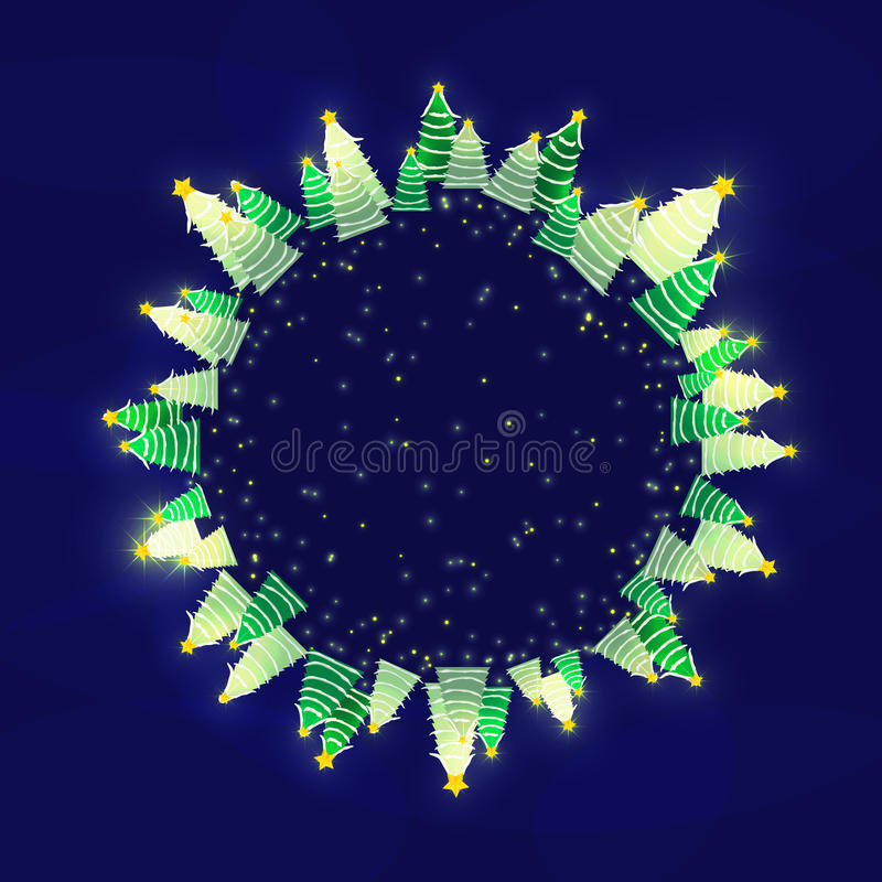 kortjul som greeting lyckligt glatt nytt år Tom mall med stället för text royaltyfri illustrationer