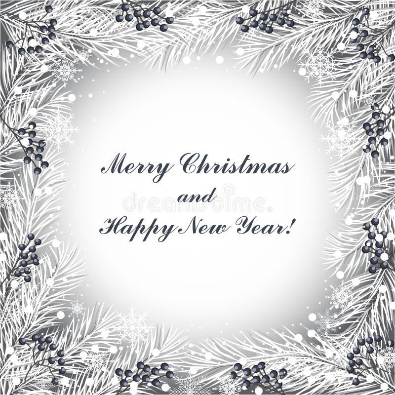 kortjul som greeting nytt år royaltyfri illustrationer
