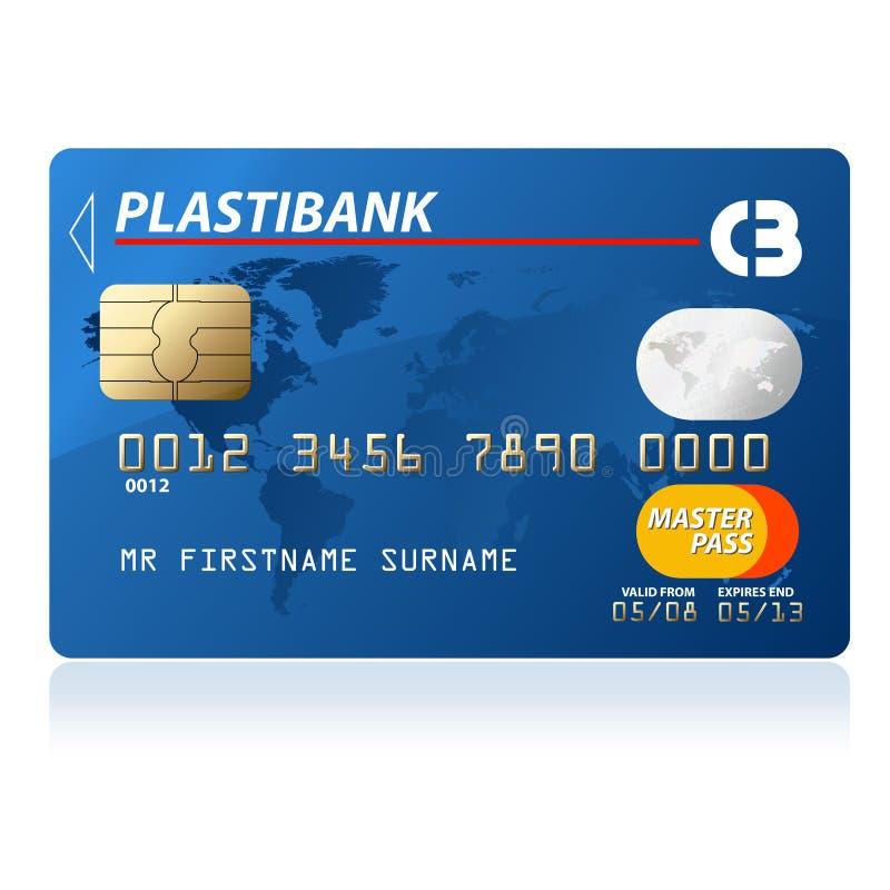 kortkreditering stock illustrationer