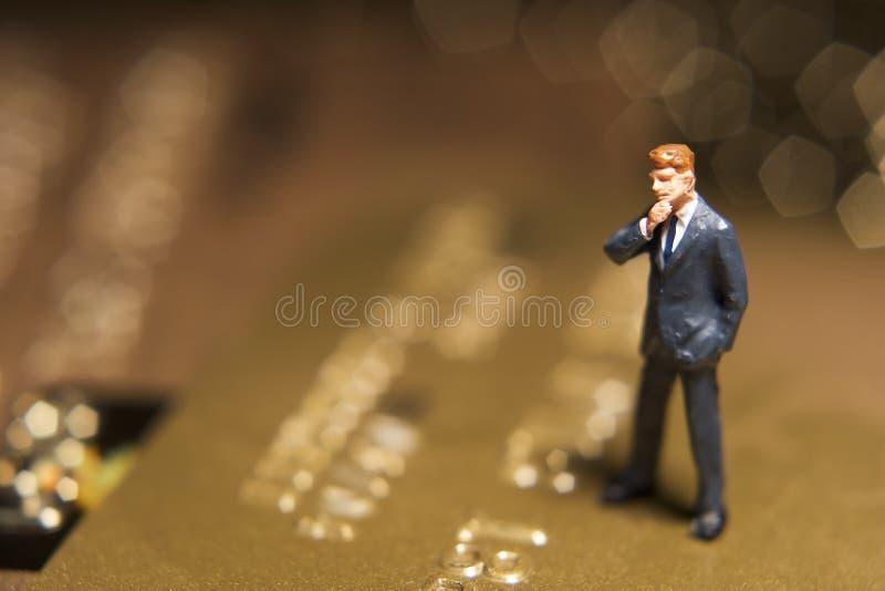 kortkreditering oroade ditt royaltyfria bilder