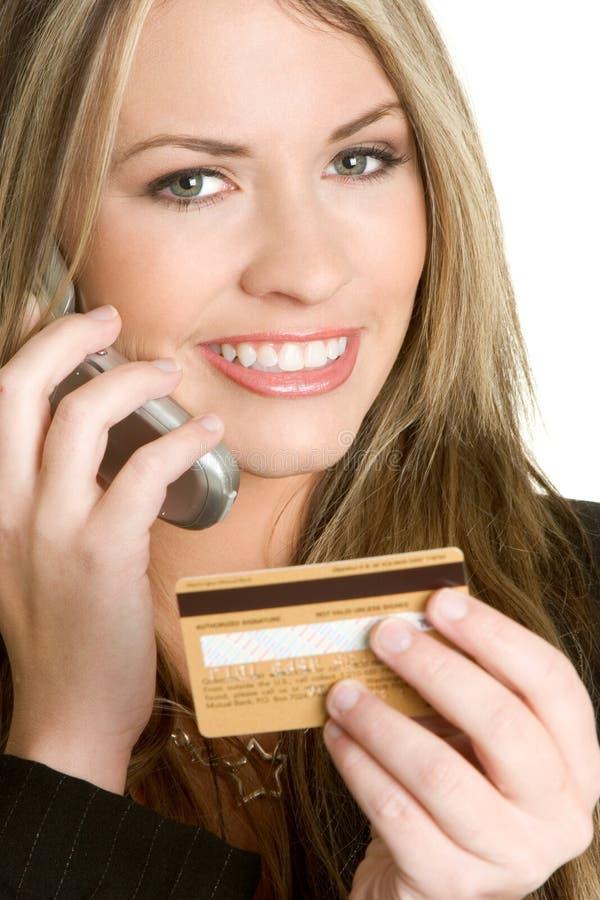 kortkrediteringskvinna royaltyfria foton