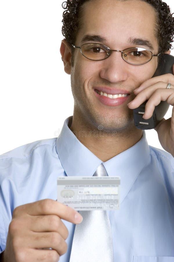 kortkrediteringsman arkivfoto