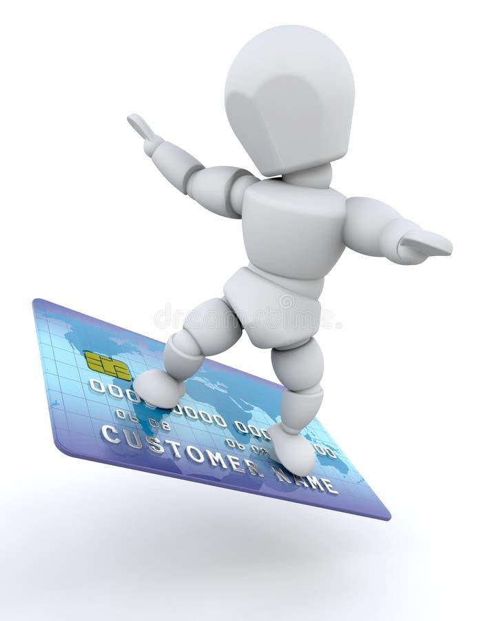 kortkrediteringsman stock illustrationer