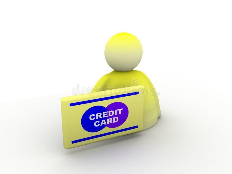kortkrediteringsonline-betalning stock illustrationer