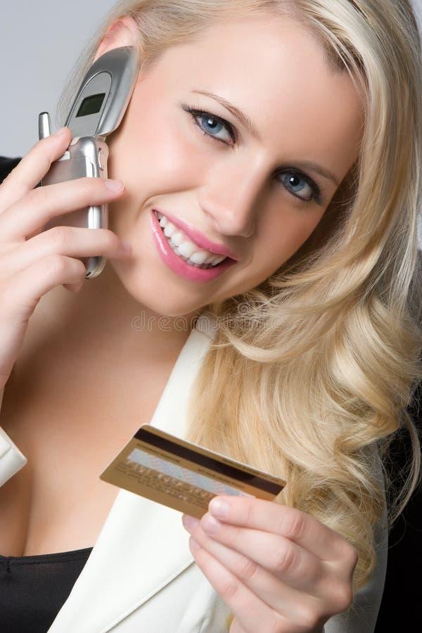 kortkrediteringsshoppare arkivfoton