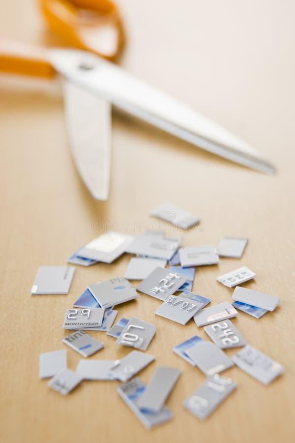 kortkrediteringsstycken royaltyfri foto