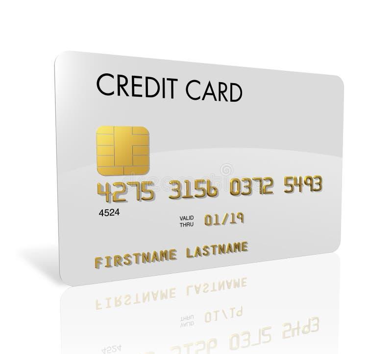 kortkrediteringswhite stock illustrationer