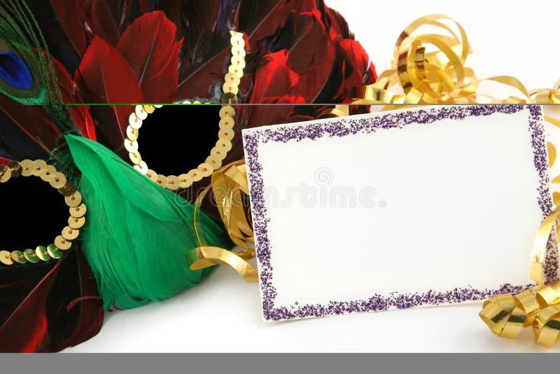 kortmaskeringsdeltagare royaltyfri foto