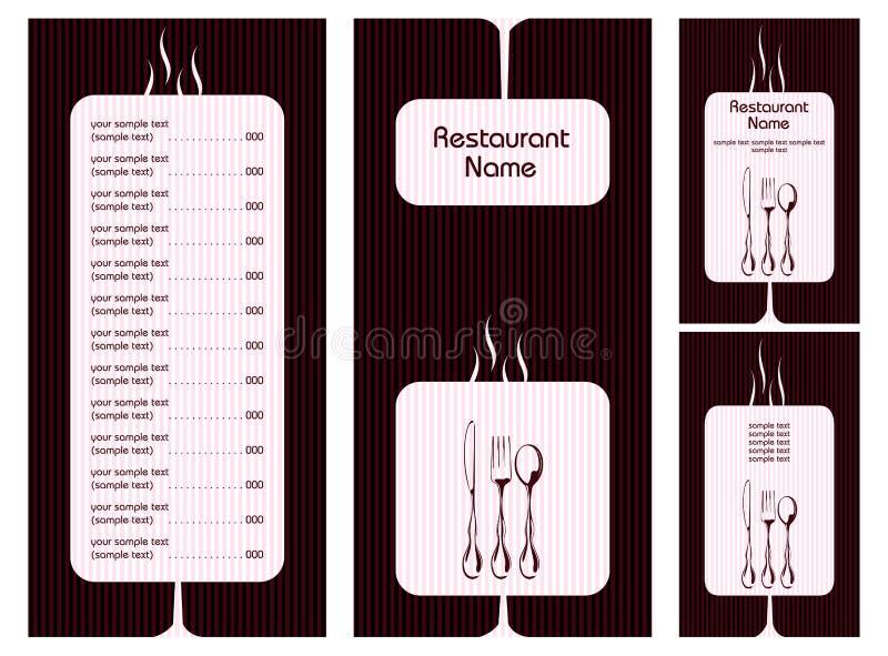 kortmenymall stock illustrationer