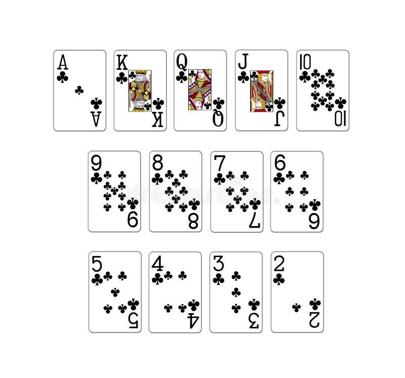 kortpokerset royaltyfri illustrationer