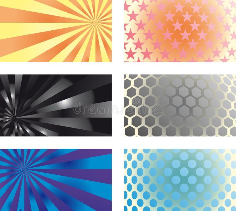 kortset för affär 01 vektor illustrationer