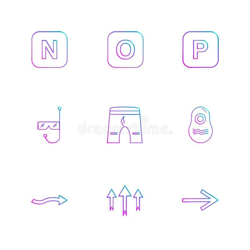 kortslutningar simbassäng, alfabet, hav, mat, picknick, summe royaltyfri illustrationer