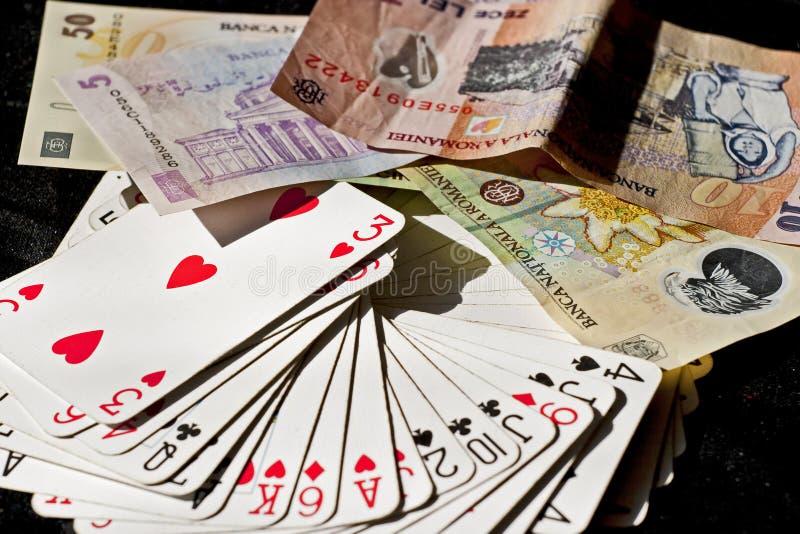 Kortspel royaltyfria bilder